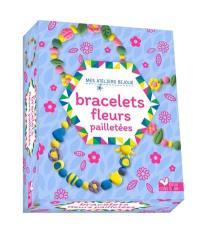 Bracelets fleurs pailletées