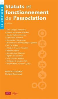 Statuts et fonctionnement de l'association