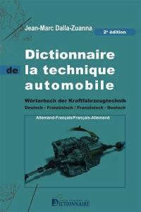 Dictionnaire de la technique automobile