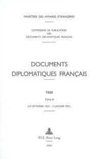 Documents diplomatiques français. Volume 3, 24 septembre 1920-15 janvier 1921