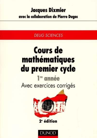 Cours de mathématiques du premier cycle