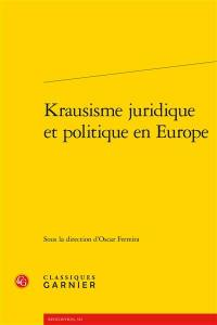 Krausisme juridique et politique en Europe