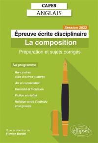 Capes anglais, épreuve écrite disciplinaire