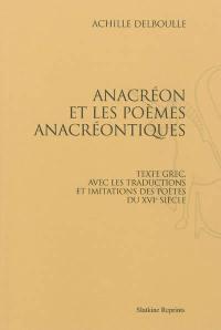 Anacréon et les poèmes anacréontiques