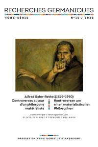 Recherches germaniques, hors série. n° 15, Alfred Sohn-Rethel (1899-1990)