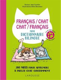 Mini-dictionnaire bilingue français-chat, chat-français