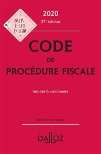Code de procédure fiscale 2020