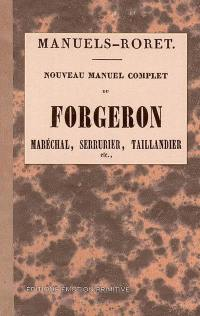 Nouveau manuel complet du forgeron