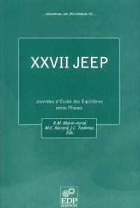 Journal de physique 4. n° 90, XXVII JEEP