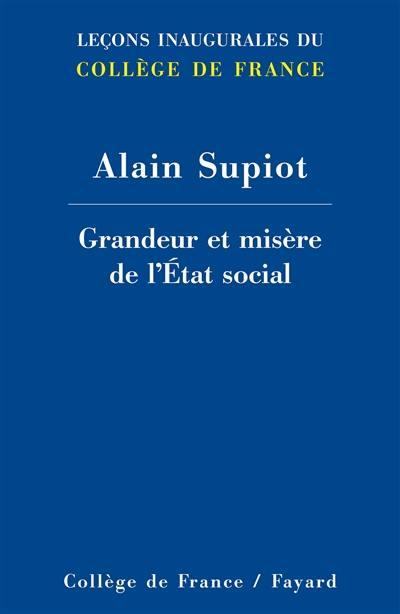 Grandeur et misère de l'Etat social