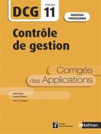 Contrôle de gestion, DCG épreuve 11