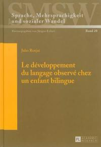 Le développement du langage observé chez un enfant bilingue