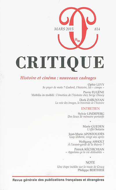Critique. n° 814, Histoire et cinéma