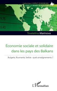 Economie sociale et solidaire dans les pays des Balkans