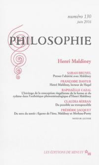 Philosophie. n° 130, Henri Maldiney