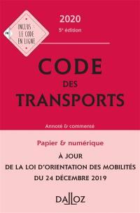 Code des transports 2020