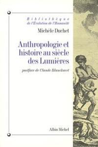 Anthropologie et histoire au siècle des lumières
