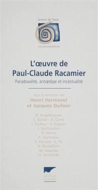 L'oeuvre de Paul-Claude Racamier