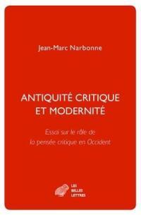 Antiquité critique et modernité