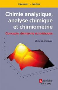 Chimie analytique, analyse chimique et chimiométrie