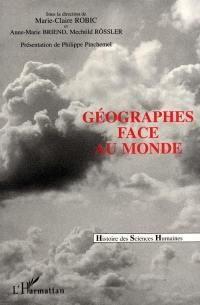 Geographes face au monde