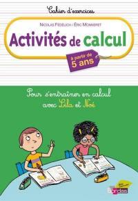 Activités de calcul, à partir de 5 ans