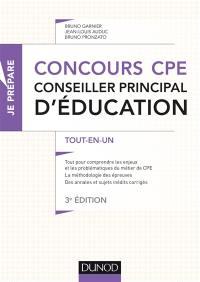 Concours CPE, conseiller principal d'éducation