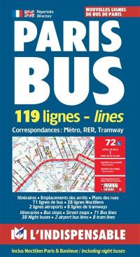 Paris bus : 119 lignes = Paris bus : 119 lines