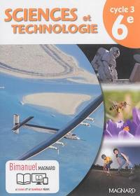 Sciences et technologie cycle 3, 6e