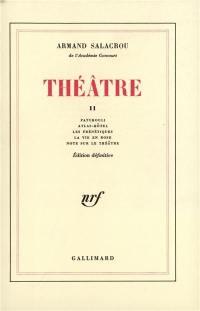 Théâtre. Volume 2, Patchouli