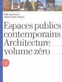 Espaces publics contemporains