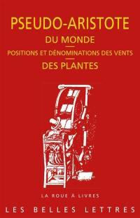 Du monde; Positions et dénominations des vents; Des plantes