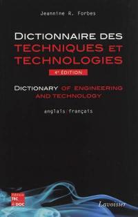Dictionnaire des techniques et technologies modernes, Anglais-français