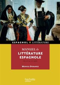 Manuel de littérature espagnole