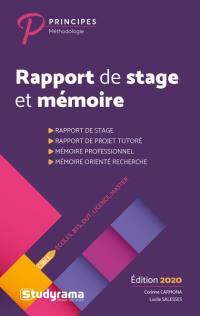 Rapport de stage et mémoire