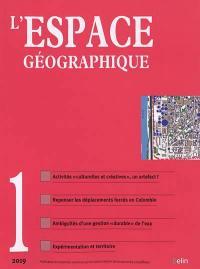 Espace géographique. n° 1 (2019),