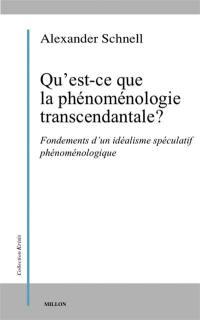 Qu'est-ce que la phénoménologie transcendantale ?