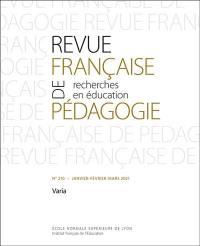 Revue française de pédagogie. n° 210, Varia