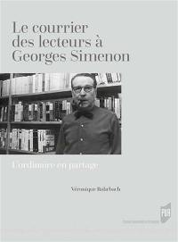 Le courrier des lecteurs à Georges Simenon