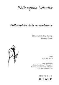 Philosophia scientiae. n° 24-2, Philosophies de la ressemblance