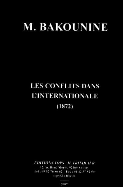 Les conflits dans l'Internationale (1872)