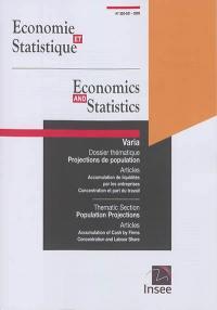 Economie et statistique. n° 520-521, Projections de population
