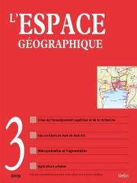 Espace géographique. n° 3 (2019),