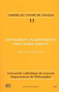 Definability in arithmetics and computability