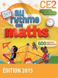 Maths CE2 : fichier par domaines