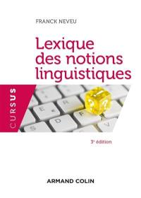 Lexique des notions linguistiques