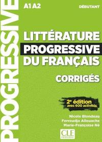Littérature progressive du français, corrigés