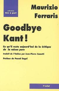 Goodbye Kant !