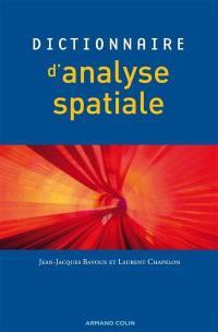 Dictionnaire d'analyse spatiale