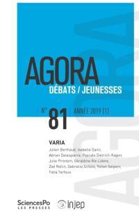 Agora débats jeunesse. n° 81, Varia